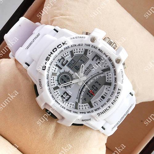 Стильные спортивные наручные часы Casio GA-000 White/Black 6042