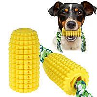Іграшка для собак Bronzedog кукурудза з канатом