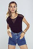 Женская блузка Alessia Eldar черного цвета. Размеры S-XL