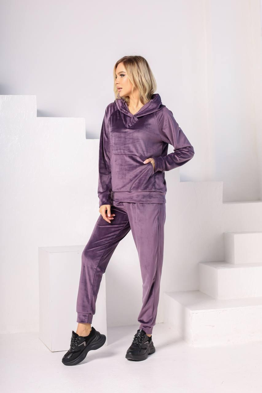 Велюровий костюм жіночий Фіолетовий