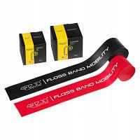 Лента эластичная для флоссинга 4FIZJO Floss Band черный, красный 208 x 5 см 2 шт 4FJ0137 SKL41-249479