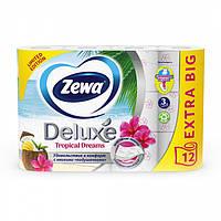 Туалетная Бумага ZEWA Deluxe 3 слоя, 12 шт Tropical Dreams 12 рулонов