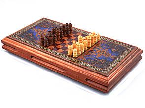 Ігровий набір 3в1 нарди і шахи та шашки (32х32 см) XLY-730