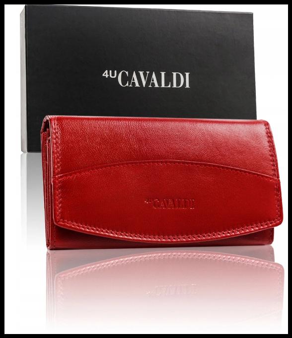 Гаманець жіночий Cavaldi натуральна шкіра Польща код 300 червоний