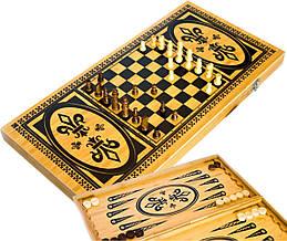 Игровой набор 3в1 нарды шахматы и шашки (59х59 см) В6030С