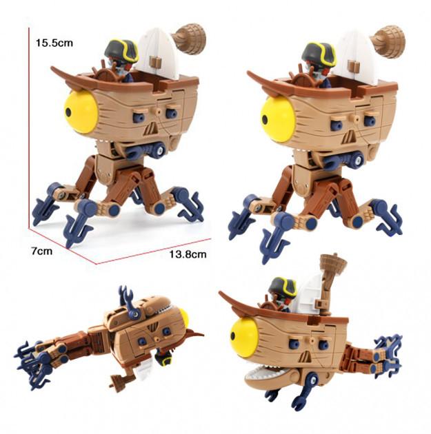 Растения против зомби Зомби Босс  Дирижабль Робот - Трансформер Боевые машины Пиратский Корабль