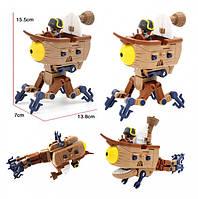 Растения против зомби Зомби Босс  Дирижабль Робот - Трансформер Боевые машины Пиратский Корабль, фото 1