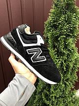 Кросівки чоловічі чорні з білим теплі на зиму, фото 3