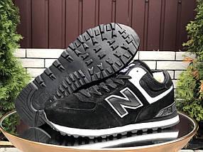 Кросівки чоловічі чорні з білим теплі на зиму, фото 2