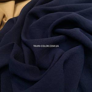 Ткань американский креп темно-синий