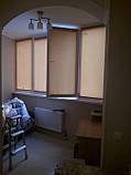 Рулонні штори Len. Тканинні ролети Льон Персиковий 0877, 38, фото 6