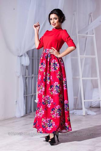 Женское нарядное платье с цветами