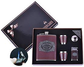 Сувенирные подарочные наборы готовые оригинальные 5в1 Moongrass Фляга  Рюмки  Зажигалка  Лейка №DJH-0509-NB