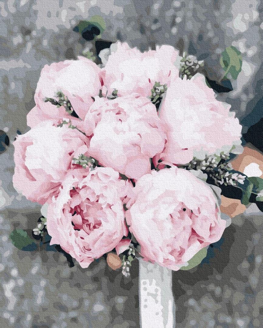 Картина по номерам 40х50 см Brushme Пионы для невесты (GX 37530)