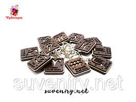 Сувенирные деревянные брелки со знаками зодиака