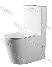 Унитаз-компакт DUSEL AREZ DTPT10210230R с бачком и сиденьем Slim Soft-Close