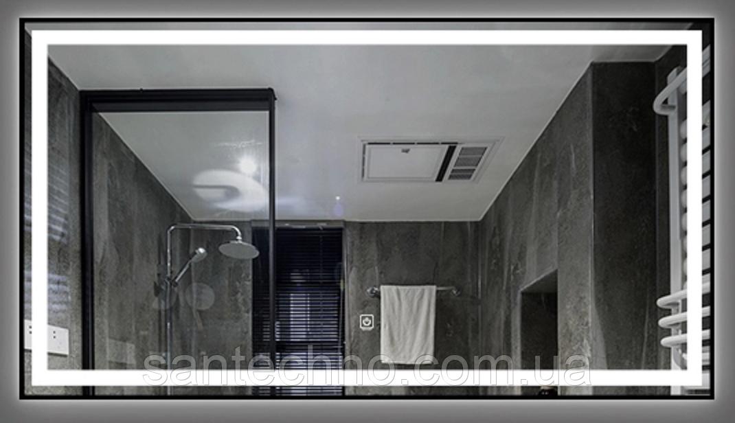 Зеркало DUSEL LED DE-M0061S1 Silver 100смх75см cенсорное включение+подогрев+часы/темп