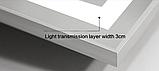 Зеркало DUSEL LED DE-M0061S1 Silver 100смх75см cенсорное включение+подогрев+часы/темп, фото 2