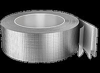 Фольга алюмінієва армована 75мм х 50м самокл. 30 мкм (упаковка 16 шт)