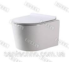 Унитаз подвесной DUSEL AREZ DWHT10210230R с сиденьем Slim Soft-Close