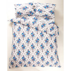 Постільна білизна Lotus Ranforce - Loise V1 синій євро