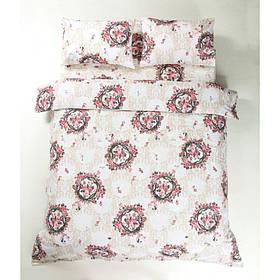 Постільна білизна Lotus Ranforce - Angelique V1 рожевий євро