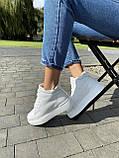 Женские ботинки кожаные зимние белые Yuves 521, фото 3