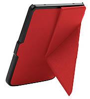 Чехол PocketBook 614 Basic 2/3 (Plus) красный трансформер полиуретановый - обложка Origami