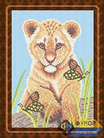 Схема для вышивки бисером - Тигренок и бабочки, Арт. ЖБп4-010