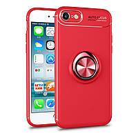 Чехол TPU Ring для Iphone SE 2020 бампер оригинальный с кольцом Red