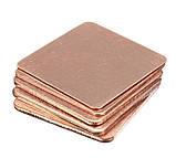 Термопрокладка медная 20х20mm 0.8mm пластина термопаста термоинтерфейс для ноутбука радиатор, фото 6