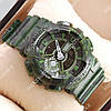 Функциональные спортивные наручные часы Casio GA-110 Military/Green/White 6051