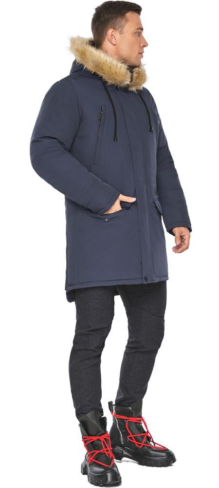 Куртка – воздуховик мужской синего цвета зимний модель 45062