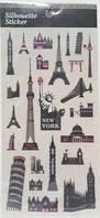 Наклейки для открытки Stickers 7 Paris