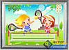Схема для вышивки бисером - Детская вышивка - дети и теннис, Арт. ДБч5-012