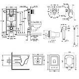 Комплект инсталляция Grohe Rapid SL 38827000 + унитаз с сиденьем Qtap Crow WHI 5170 + набор для гигиенического, фото 2