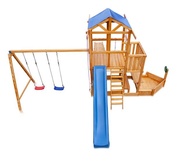 Детская спортивная деревянная площадка Babyland-13, размер 6,5х7,5х3,1м, фото 2