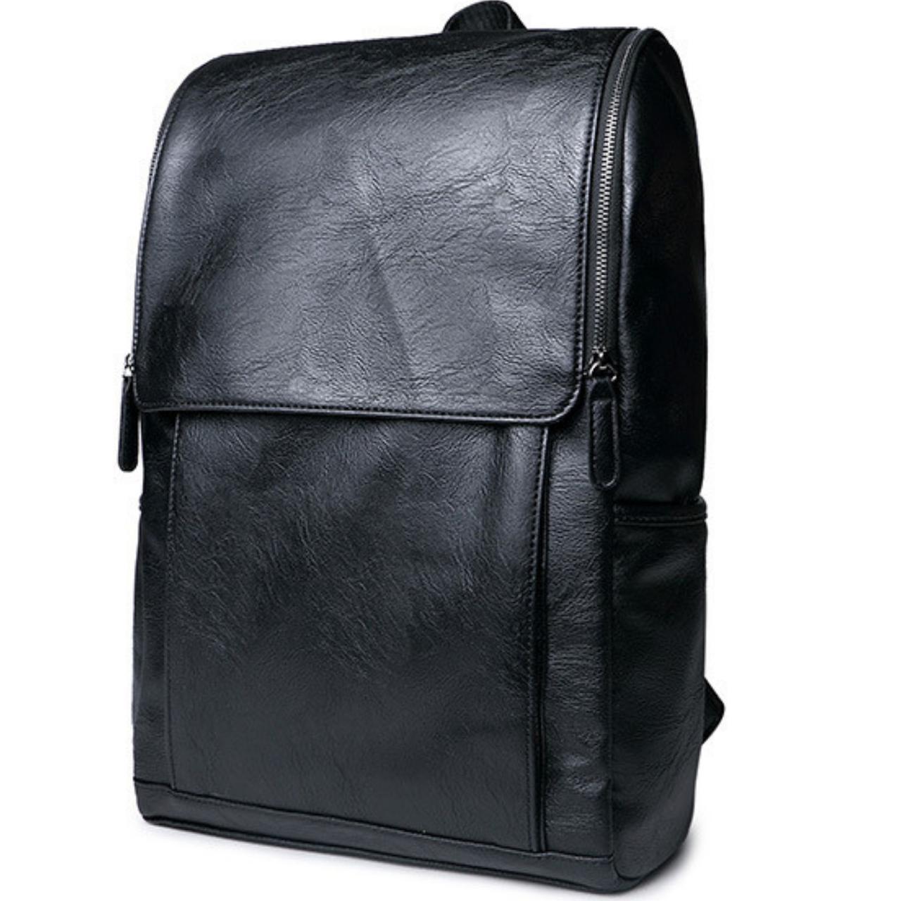 Мужской черный рюкзак, классический рюкзак для мужчин, городкой рюкзак эко-кожа СС-2562-10