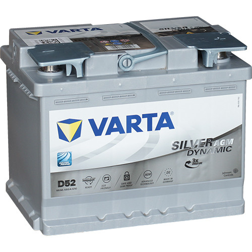 Аккумулятор VARTA SD  6СТ-60 (0) AGM  Start-stop D52