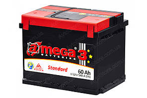Аккумулятор A-mega Standard 6СТ-60-АЗ (1)