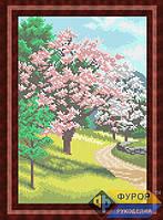 Схема для вышивки бисером - Цветущие деревья весной, Арт. ПБп4-9