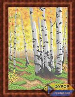 Схема для вышивки бисером - Березовая роща осенью, Арт. ПБп4-011