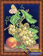 Схема для вышивки бисером - Натюрморт из винограда и персика, Арт. НБч4-40