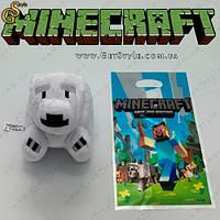 """Игрушка Белый медведь из Minecraft - """"Polar Bear"""" - 18 см"""