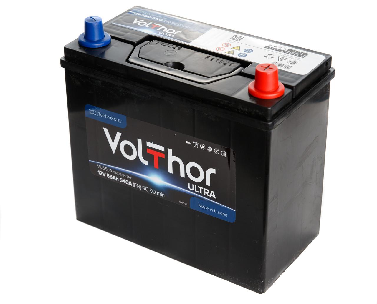 Аккумулятор Volthor 6СТ-55-АЗ (0) Asia