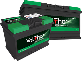 Аккумулятор Volthor AGM Stop-Go 6СТ-80-АЗ (0)