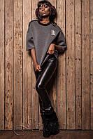 Свитшот Твист темно-серый ТМ Жадон 42-50 размеры Jadone