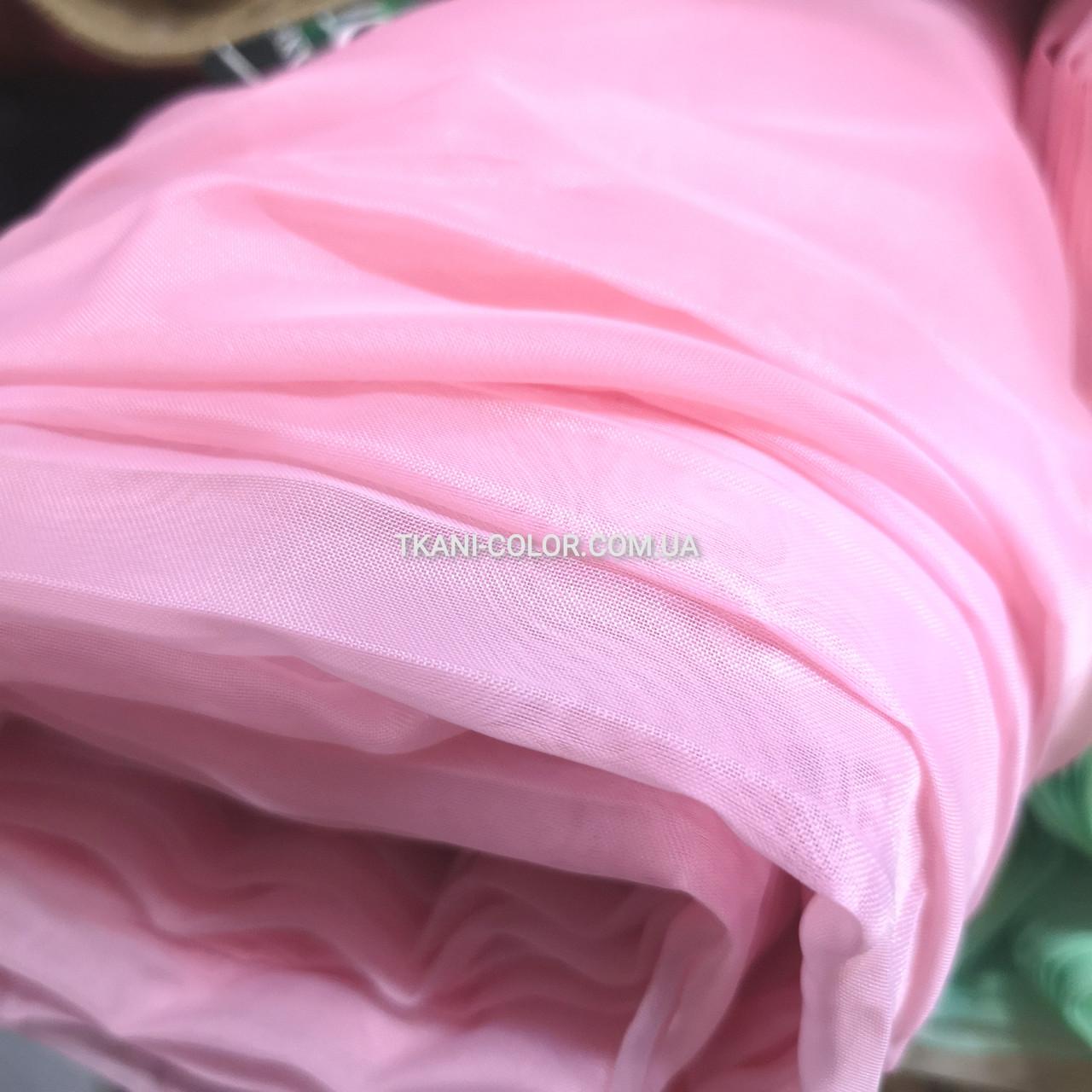 Ткань шифон для штор розовый