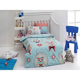 Дитяче постільна білизна для немовлят Eponj Home - Baykus A. mavi