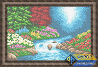 Схема для вышивки бисером - Цветы у реки, Арт. ПБп4-017